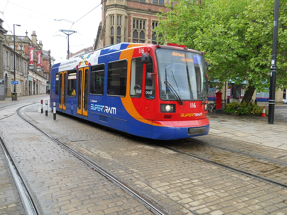 Supertram on Church Street