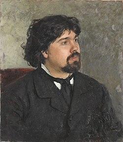 Худ. рєпін і.ю. «портрет в.сурикова», 1885