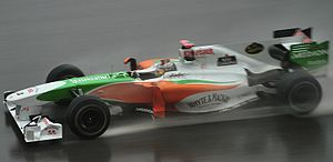 2010 Malaysian Grand Prix - Adrian Sutil started fourth for Force India.