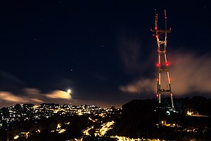 Sutro Tower - Night view