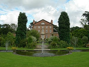 Sutton Park, Yorkshire - View of house from gardens