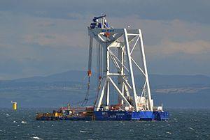 Burbo Bank Offshore Wind Farm - Svanen, lifting ship, Burbo Banks Offshore Windfarm Extension