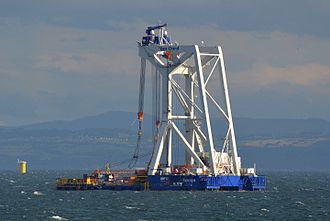 Burbo Bank Offshore Wind Farm - Svanen, lifting ship, Burbo Banks Offshore Windfarm Extension