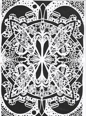 """Jewish paper cutting - Jewish papercut """"The World""""  by Agata Szepe"""