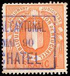 Switzerland Neuchâtel 1879 revenue 3 1Fr - 9C.jpg
