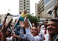 Syrian people celebrate Bashar Assad's presidential re-election in Damascus-2014 (2).jpg