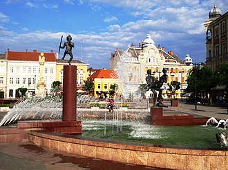Vas County - Image: Szombathely Main Square
