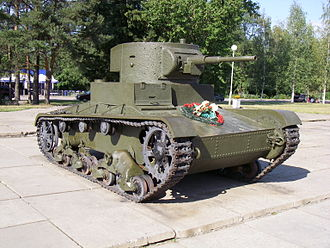 Battle of Tolvajärvi - Soviet T-26 with 45mm gun