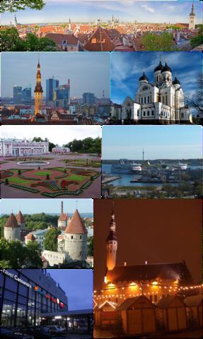 Ansichten der estnischen Hauptstadt Tallinn
