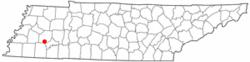 Location of Medon, Tennessee