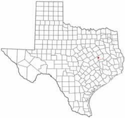 Location of Marquez, Texas
