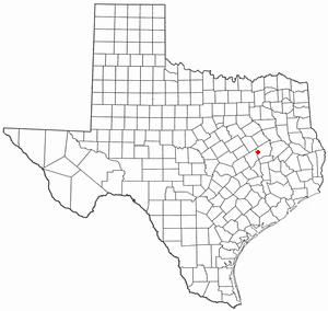 Marquez, Texas - Image: TX Map doton Marquez