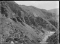 Taieri Gorge, near Dunedin, Otago, with railway line coming through an area known as The Notches ATLIB 292407.png