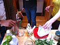 Taking a break from recording and making Mint Juleps for the derby, bfor recording session.jpg