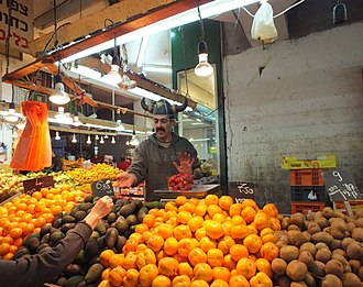 Price - Prices for fruit at a market in Israel