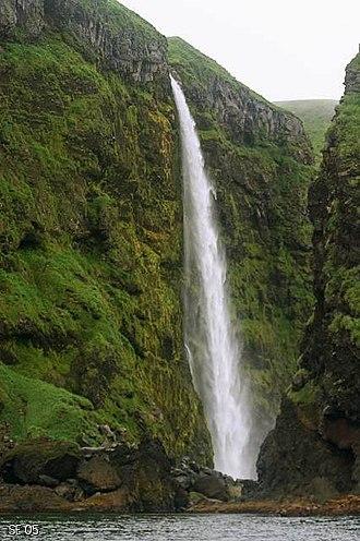 Tanaga Island - Waterfall on Tanaga Island