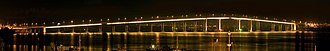 Tasman Bridge - Image: Tasman Bridge Night Panorama