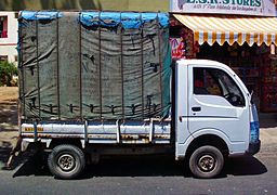 Side view of a Tata Ace