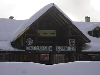 Resort town - Railway station in Tatranská Lomnica ski resort, Slovakia