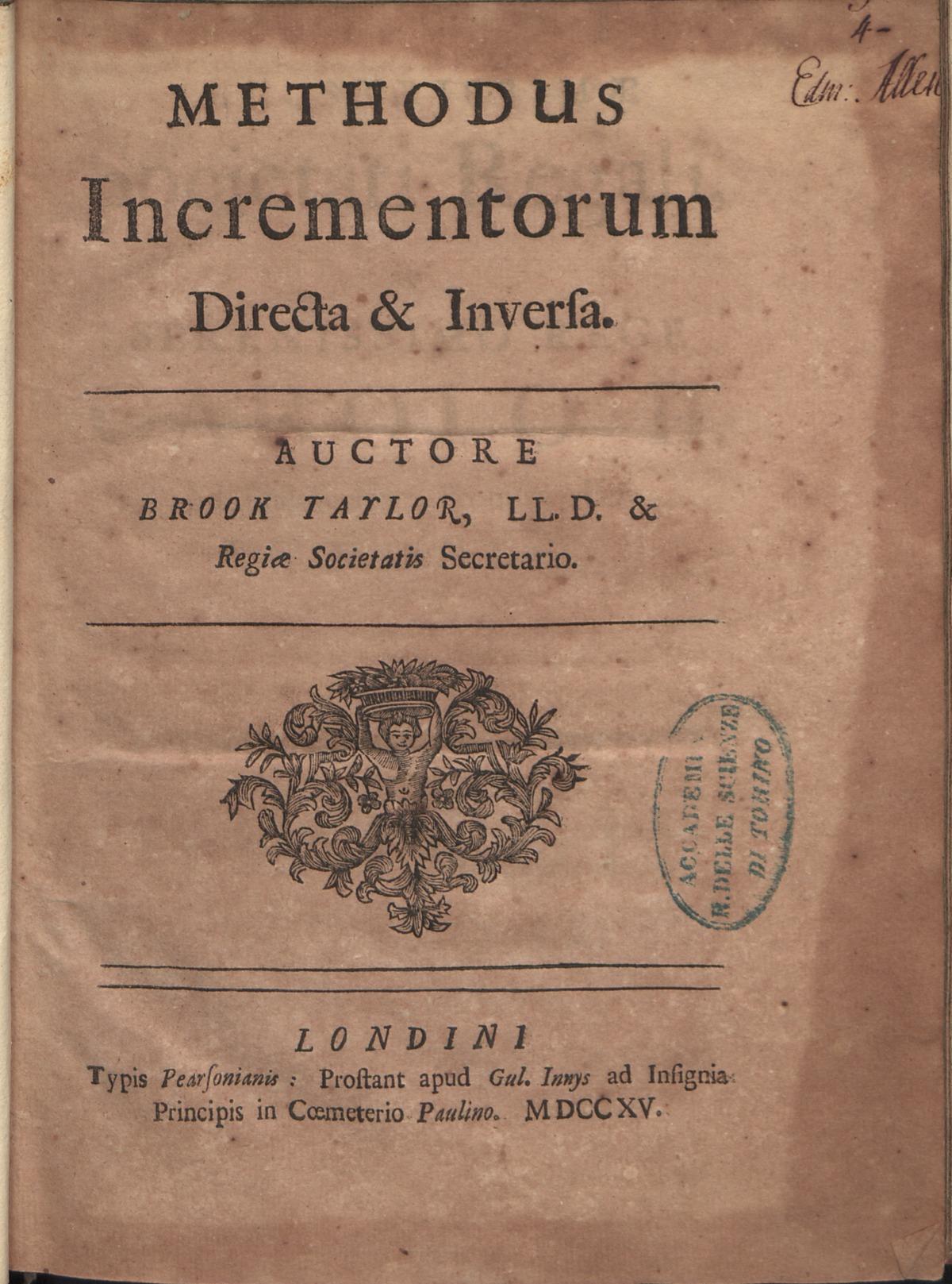 Taylor - Methodus incrementorum directa et inversa, 1715 - 811460.tif