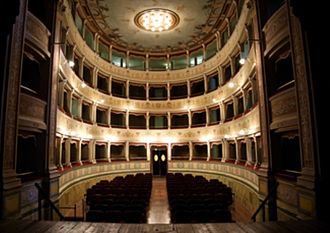 Amelia, Umbria - 18th century theater in Amelia.