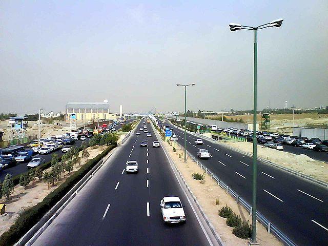 Karaj Road by https://commons.wikimedia.org/wiki/User:Asadi via https://en.wikipedia.org/wiki/File:Tehran_Karaj_Rd.jpg