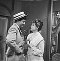 Televisierepetitie Een mooie zondag in september . Jules Croiset en Myra Ward, Bestanddeelnr 912-6056.jpg