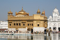Harmandir Sahib, a Sikh gurudwara at Amritsar, India