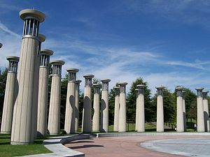 Bicentennial Capitol Mall State Park - Carillon pillars in the park