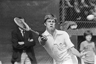 Buster Mottram - Image: Tennis Het Melkhuisje Buster Mottram in actie, Bestanddeelnr 929 8364