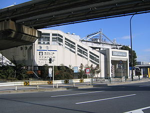 Tennōzu Isle Station - The Tokyo Monorail station south entrance, January 2005