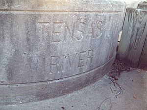 Tensas River - Bridge stamped with the Tensas River name