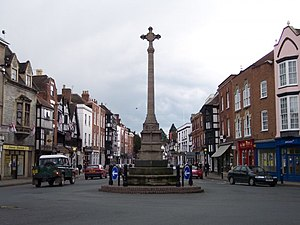 Tewkesbury - Tewkesbury War Memorial, locally known as the Cross