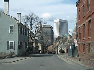 East Side, Providence, Rhode Island - The Providence skyline from College Hill