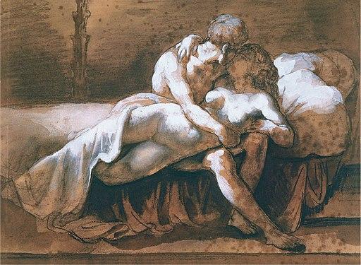 Théodore Géricault - El beso