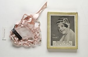 Adelaide Claxton - Adelaide Claxton's patented 'Ear-cap'.