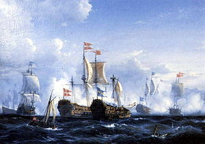 The Battle of Koge Bugt Painting by Viggo Faurholt.jpg