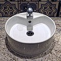 The Betjeman Arms gents toilet wash sink basin, St Pancras International, London, England.jpg