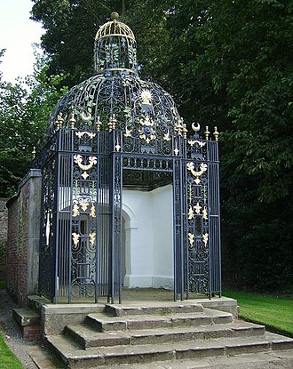 Robert Bakewell (ironsmith) - The arbour at Melbourne Hall