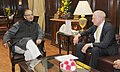 The Chairman, Standard Life, Mr. Jerry Gimstone calling on the Union Minister for Finance, Corporate Affairs and Information & Broadcasting, Shri Arun Jaitley, in New Delhi on December 08, 2014.jpg
