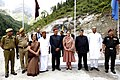 The Chairperson, National Advisory Council, Smt. Sonia Gandhi laid the foundation stone for the Rohtang Tunnel Project, in Manali, Himachal Pradesh on June 28, 2010 (1).jpg