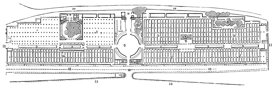 GROUND PLAN OF THE BUILDING COMMITTEE'S DESIGN.
