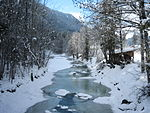 The Jachen stream on a sunny winter day (Bavaria, Germany).JPG
