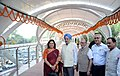 The Minister of State for Housing and Urban Affairs (IC), Shri Hardeep Singh Puri at the inauguration of the Skywalk & FOB, at 'W' Point, in New Delhi (1).JPG