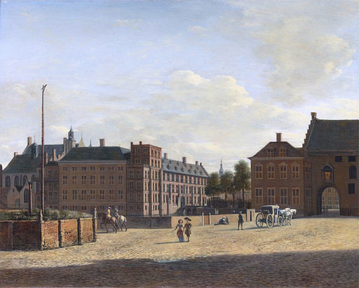 The Plaats with the Binnenhof and the Gevangenpoort, The Hague, by Gerrit Adriaensz Berckheyde