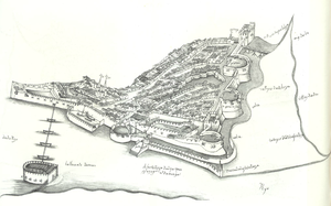 The Portuguese Fortress of Diu in the mid-16th century.png