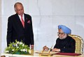 The Prime Minister, Dr. Manmohan Singh signing the visitor's book, at Putrajaya, the Prime Minister Office, in Malaysia on October 27, 2010.jpg