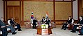 The Prime Minister, Dr. Manmohan Singh with the South Korean President, Mr. Lee Myung-bak, at a bilateral meeting, in Seoul on March 25, 2012.jpg
