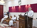 The Prime Minister, Shri Narendra Modi addressing the relatives of leading freedom fighters of Odisha, at a special programme, in Bhubaneswar, Odisha on April 16, 2017. The Governor of Odisha, Dr. S.C. Jamir is also seen.jpg