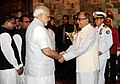 The Prime Minister, Shri Narendra Modi being received by the President of Bangladesh, Mr. Abdul Hamid, at Bangabhaban, in Dhaka, Bangladesh on June 07, 2015.jpg